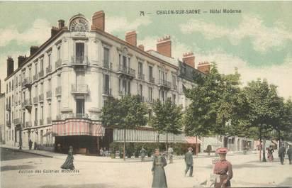"CPA FRANCE 71 ""Châlon sur Saône, hôtel moderne"""