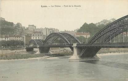 """CPA FRANCE 69 """"Lyon, le Rhône, pont de la boucle"""""""