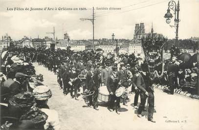 """CPA FRANCE 45 """"Orléans, fêtes de Jeanne d'Arc, sociétés diverses"""""""
