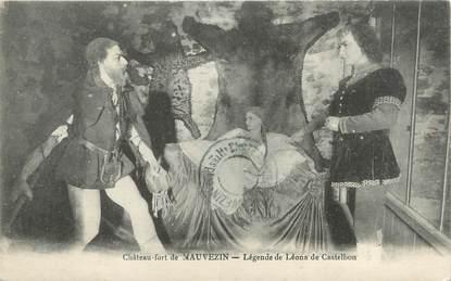 """CPA FRANCE 32 """"Château de Mauvezin, légende de Léona de Castelbon"""""""
