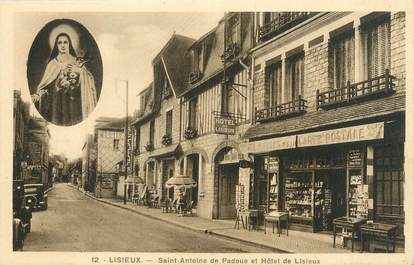 """CPA FRANCE 14 """"Lisieux, Saint Antoine de Padoue et hôtel de Lisieux"""""""