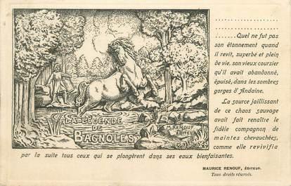 """CPA FRANCE 61 """"Bagnoles de l'Orne, la légende de Bagnoles"""" / CARTE D'EDITEUR"""