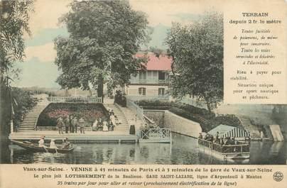 """CPA FRANCE 77 """"Vaux sur Seine, venise, le plus joli lotissement de la banlieue"""""""