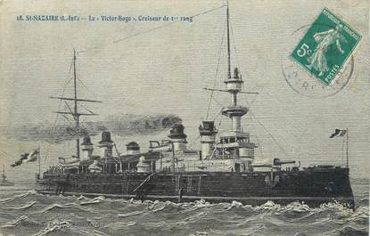 """CPA FRANCE 44 """"Saint Nazaire, le Victor Hugo croiseur de 1er rang"""""""