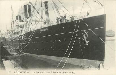 """CPA FRANCE 76 """"Le Havre, la Lorraine dans le bassin de l'Eure"""""""