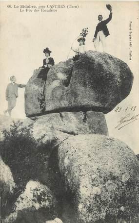 """CPA FRANCE 81 """"Le Sidobres près Castres, le roc des Escudelos"""""""