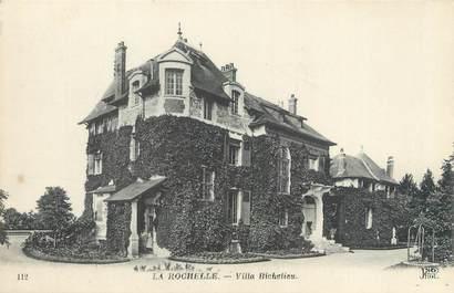 "CPA FRANCE 17 ""La Rochelle, villa Richelieu"""