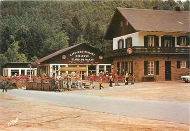 """CPSM FRANCE 57 """"Etang de Hanau, café restaurant Bellevue"""""""