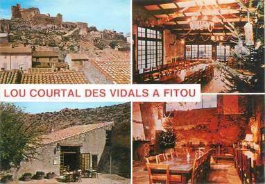 """CPSM FRANCE 11 """"Fitou, restaurant Lou Courtal des Vidals"""""""