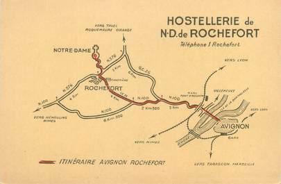 """CPSM FRANCE 30 """"Hostellerie de Notre Dame de Rochefort"""""""