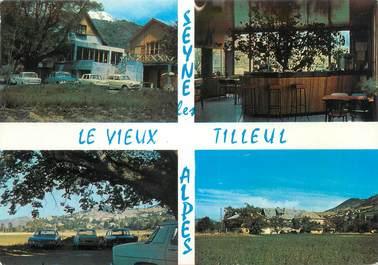 """CPSM FRANCE 04 """"Seyne les Alpes, le vieux Tilleul, hôtel restaurant"""""""