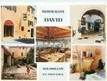"84 Vaucluse CPSM FRANCE 84 ""Roussillon, restaurant David"""