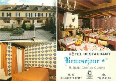 """CPSM FRANCE 38 """"Saint Laurent du Pont, hôtel restaurant Beauséjour"""""""