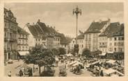 """68 Haut Rhin CPA FRANCE 68 """"Mulhouse, la place et le marché"""""""