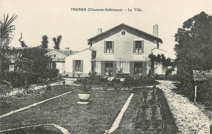 "/ CPA FRANCE 17 ""Touron, la villa"""