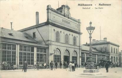 """CPA FRANCE 68 """"Mulhouse, la gare"""""""