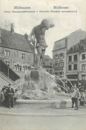 """CPA FRANCE 68 """"Mulhouse, nouvelle fontaine monumentale"""""""