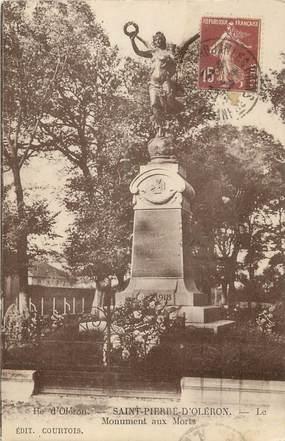 """/ CPA FRANCE 17 """"Saint Pierre d'Oleron"""" / MONUMENT AUX MORTS"""