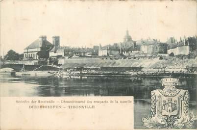 """CPA FRANCE 57 """"Thionville, démentelement des remparts de la moselle"""""""