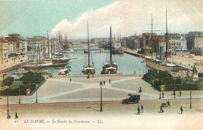 "CPA FRANCE 76 ""Le Havre, le bassin du commerce"""