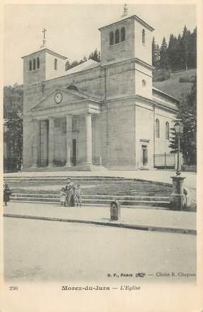 """CPA FRANCE 39 """"Morez du Jura, l'église"""" / Ed. R. CHAPUIS"""