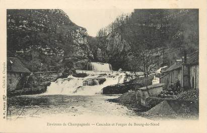 """CPA FRANCE 39 """"Cascades et forges du Bourg de Sirod"""" / Ed. R. CHAPUIS"""