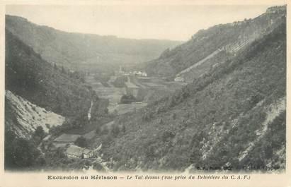 """CPA FRANCE 39 """"Excursion au Hérisson, le val dessus"""" / Ed. R. CHAPUIS"""