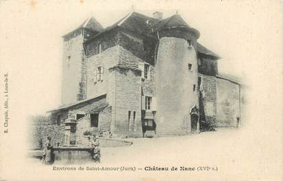 """CPA FRANCE 39 """"Environs de Saint Amour, château de Nanc"""" / Ed. R. CHAPUIS"""