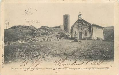 """CPA FRANCE 39 """"Environs de Saint Amour, ruines du château de Laubespin"""" / Ed. R. CHAPUIS"""