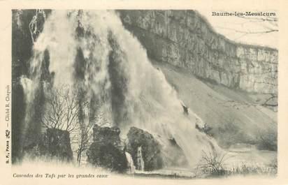 """CPA FRANCE 39 """"Baume les Messieurs, cascade des Tufs par les grandes eaux"""" / Ed. R. CHAPUIS"""