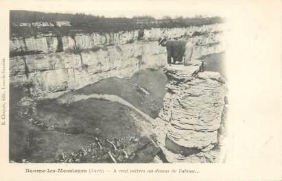 """CPA FRANCE 39 """"Baume les Messieurs, à cent mètres au dessus de l'abime"""" / Ed. R. CHAPUIS"""