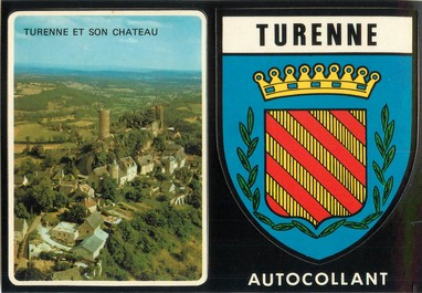 "CPSM FRANCE 19 ""Turenne"" / AUTOCOLLANT"