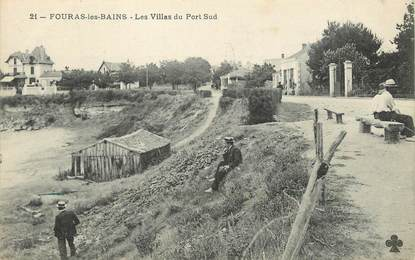 """/ CPA FRANCE 17 """"Fouras les bains, les villas du port Sud"""""""