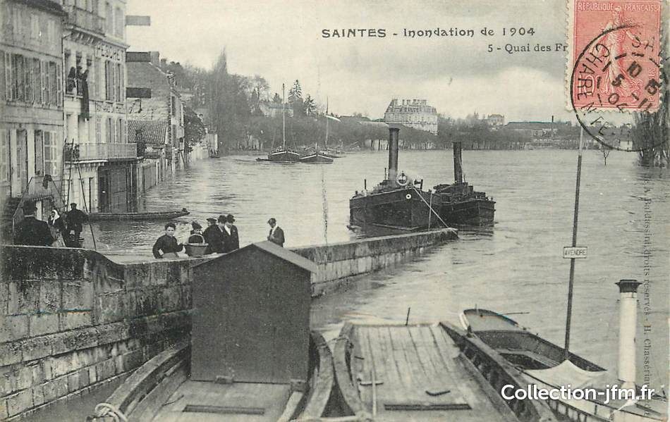 cpa france 17 saintes inondation de 1904 17 charente maritime saintes 17 ref 22035. Black Bedroom Furniture Sets. Home Design Ideas