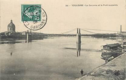 """CPA FRANCE 31 """"Toulouse, la garonne et le pont suspendu"""""""