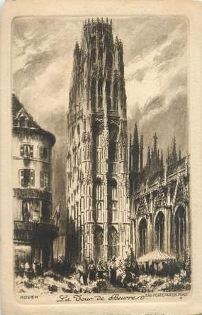 """CPA FRANCE 76 """"Rouen, la tour de Beurre"""""""