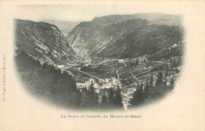 """CPA FRANCE 39 """"La Doye et l'entrée de Morez le Haut"""""""