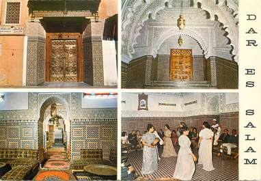 "CPSM MAROC ""Marrakech, restaurant marocain Dar Es Salam"""