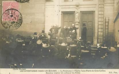 """CPA FRANCE 75 """"Paris, Les inventaires dans les Eglises, la Résistance à l'Eglise St Pierre du Gros Caillou"""""""
