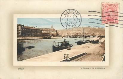 """CPA BELGIQUE """"Liège, la Meuse"""""""