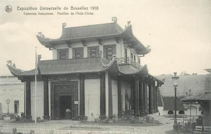 """CPA BELGIQUE """"Ecole Universelle de Bruxelles 1910, Pavillon de L'Indochine, Vietnam"""""""