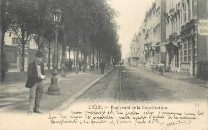 """CPA BELGIQUE """"Liège, Bld de la Constitution"""""""