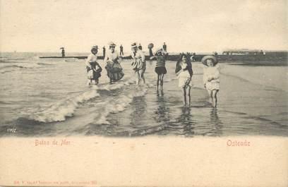 """CPA BELGIQUE """"Ostende, bains de mer"""""""