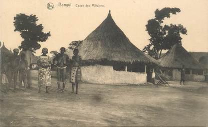 "CPA REPUBLIQUE CENTRAFRICAINE "" BANGUI, cases des miliciens"""