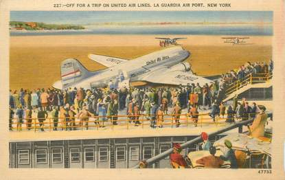 """CPA USA """"New York, aéroport"""""""