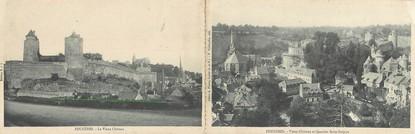 """CPA PANORAMIQUE FRANCE 35 """"Fougères, vieux château et quartier Saint Sulpice"""""""