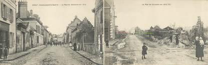 "CPA PANORAMIQUE FRANCE 02 ""Crouy, la rue Soissons"""