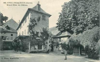"""CPA FRANCE 73 """"Challes les Eaux, grand hotel du Chateau"""""""