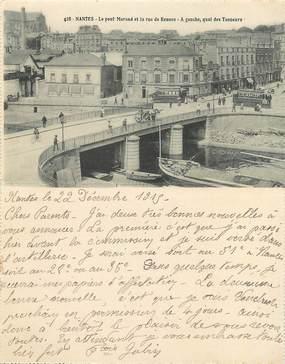"""CPA LIVRET FRANCE 44 """"Nantes, le pont Morand et la rue de Rennes, et le pont à transbordeur"""""""