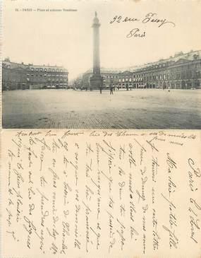 """CPA LIVRET FRANCE 75016 """"Paris, place et colonne Vendôme"""""""
